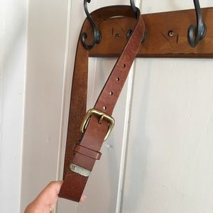 Accessories - Brown leather NY Jeans 34 inch belt
